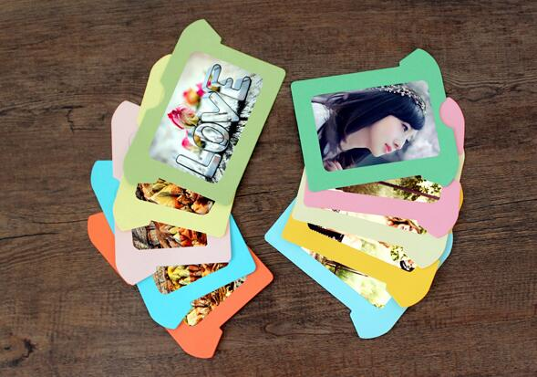 new 10 pieces 5 inch diy t shirts foto frame wall photo decor paper cardboard