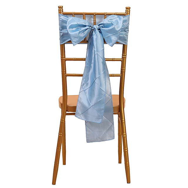 Boutique 1pcs 6x108 Inch Trellis Chair Sashes Ribbon Bows Streamer For  Wedding Party Decoration Baby Blue