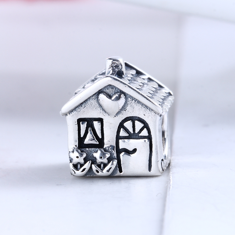 Authentic New 100% 925 Sterling Silver Fit Original Pandora Bracelet Home sweet home DIY Charms Beads for Jewelry Making Gift