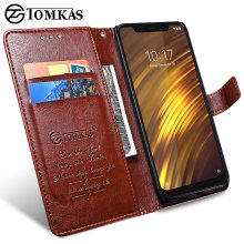 for Xiaomi POCOPHONE F1 Case Cover Global POCO F1 Wallet Leather Cover Protective Phone Cases TOMKAS Original POCOPONE F1 Case(China)