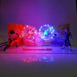 Dragon Ball Сон Гоку против вегсветодио дный ета светодиодные ночники настольная лампа Dragon Ball Z Супер Saiyan DBZ Lampara Рождество ночник