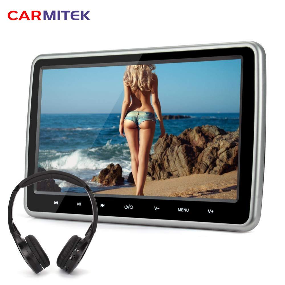 10.1 ''voiture appuie-tête lecteur DVD HDMI FM jeu écran tactile casque sans fil pour bmw e46 e90 e60 peugeot 307 mercedes volkswagen