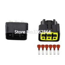 5 Sets 6 Pin plastic parts car connector  motorcycle with terminal plug DJ70610-3-11 / 21