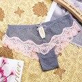 Más el tamaño m \ l \ xl mujeres sexy de encaje bragas de las mujeres bajo la cintura de algodón briefs underwear tangas sexy lace underwear mujeres