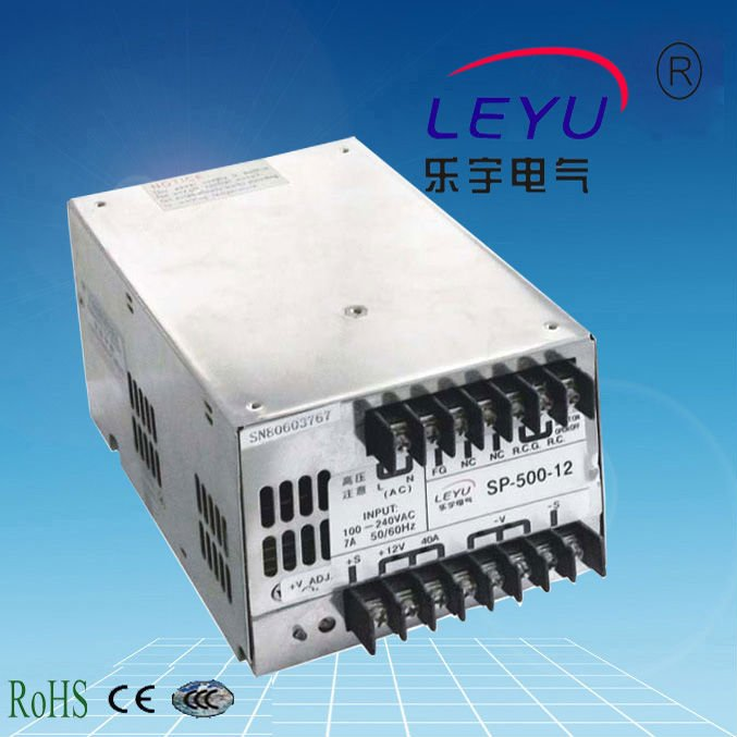 CE RoHS CCC SP-500-13.5 ac dc single output PFC function switching power supply for LED light