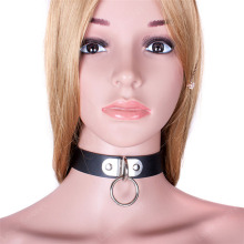 Adjustable Fetish PU Leather Collar Slave Neck Strap Belt for crossdressers