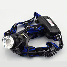Hot Sale  Cree T6 LED Headlamps 2000LM Rechargeable 3 Modes Headlights Lamp Lights +18650 Battery