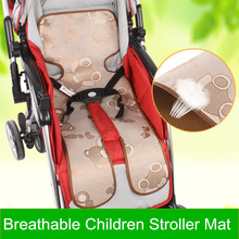 Baby Summer Cool Stroller Linen Mat Toddler Seat Cushion Stroller Breathable Pad Straw Chair Cushion Infant Stroller Accessories