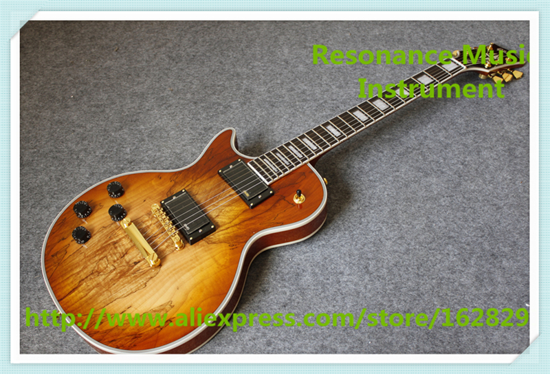 High Quality Left Handed Natural Wood Finish LP Custom Electric Guitars With Gold Hardwares For Sale high quality flag custom finish left handed es electric guitars china hollow body