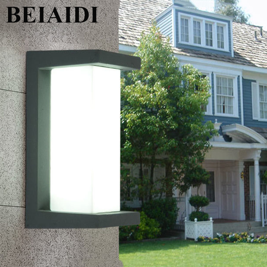 BEIAIDI IP54 10W Outdoor Led Wall Lamp Waterproof Led Porch Lights Modern Aluminum Villa Fence Garden Balcony Gateway Wall Light modern villa porch light led wall light outdoor waterproof ip54 modern porch light led indoor outdoor wall lamps garden lamp