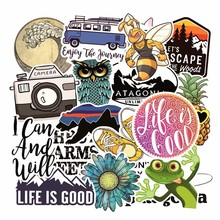 Kids Toys Stickers Laptop Skateboard Graffiti Cool Sticker Toys for Children Luggage Stickers Waterproof Stickers Pack 19pcs/Lot(China)