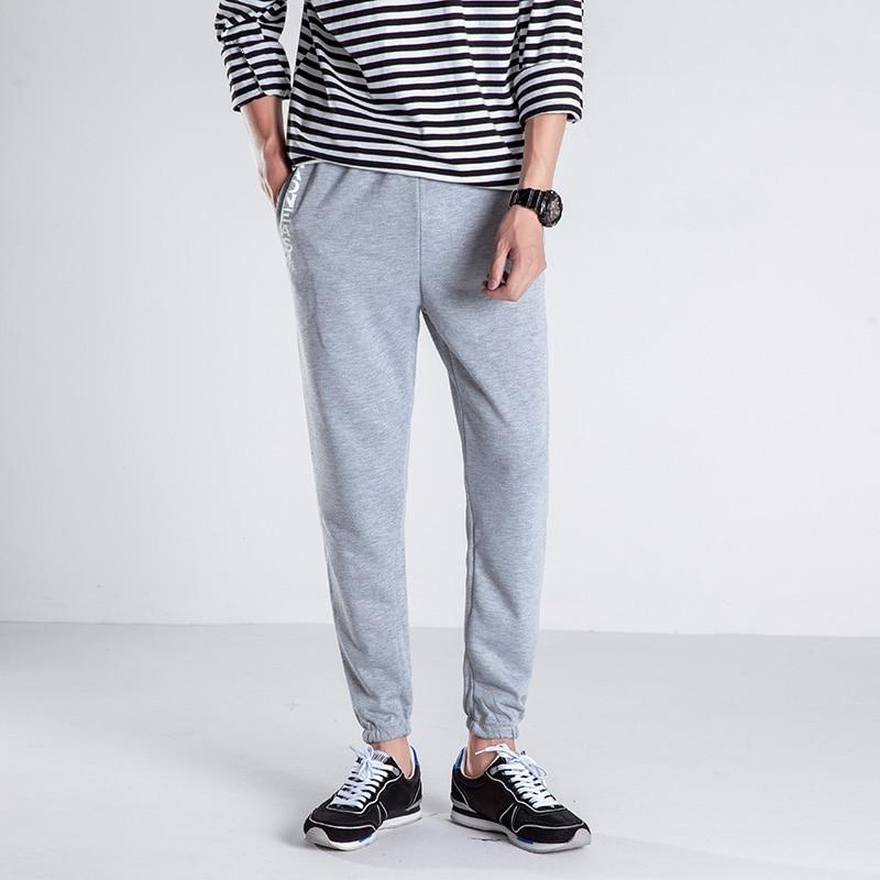 2018 Summer Sweatpants Fashion Japan Style Loose Sweat Pant Men Autumn Casual Print Mens Pants Boys Trousers Male 5XL-M Black