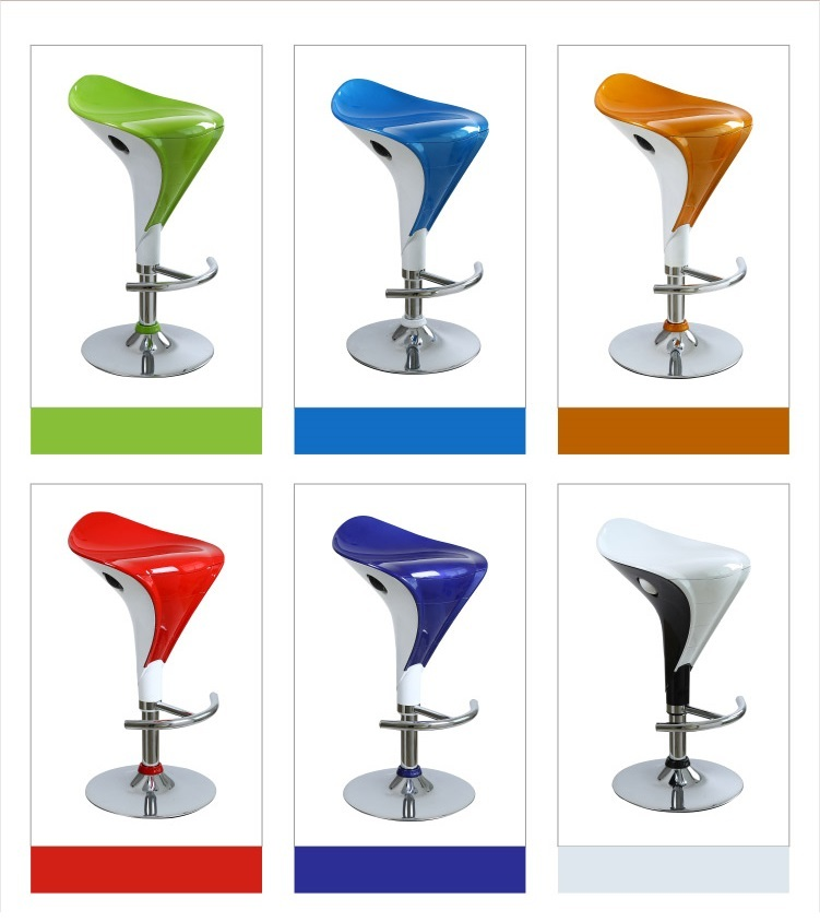 restaurant chair green blue orange color furniture shop stool American Europe fashion exhibition chair stool