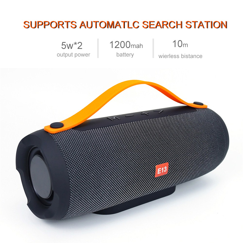 HANTOPER E13 Wireless Bluetooth Speaker 10W Big Power Portable Stereo Music Speakers Subwoofer Column Support FM Radio TF Card tg06 mobile power wireless bluetooth speaker outdoor mini fm radio tf card portable small stereo speakers
