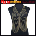 2017 Golden Summer Sexy Long Tassel Bikini Beach Belly Bodychain Multilayer Waist Chain Dance Jewelry Curbchain Women's Necklace