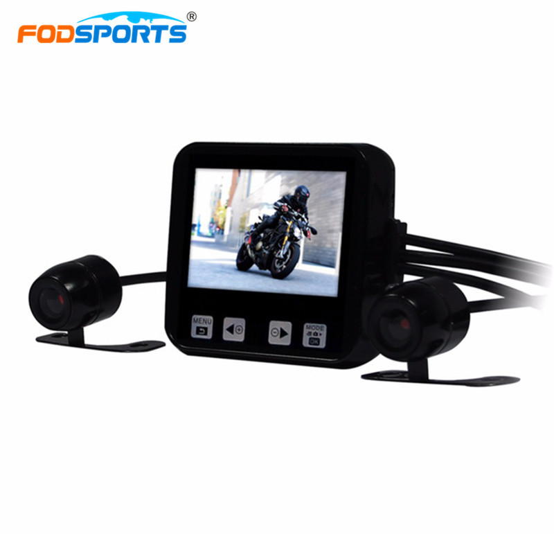 цены Motorcycle DVR C6 Mini Size 2 Inch Touch Key Full HD 720P Waterproof Dual Cameras GPS Supported Car Dash Cam Built-in Microphone