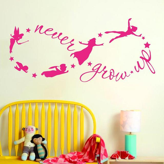 arte diseo barato vinilo decoracin del hogar nunca crecen infinito casa etiqueta de la pared decoracin