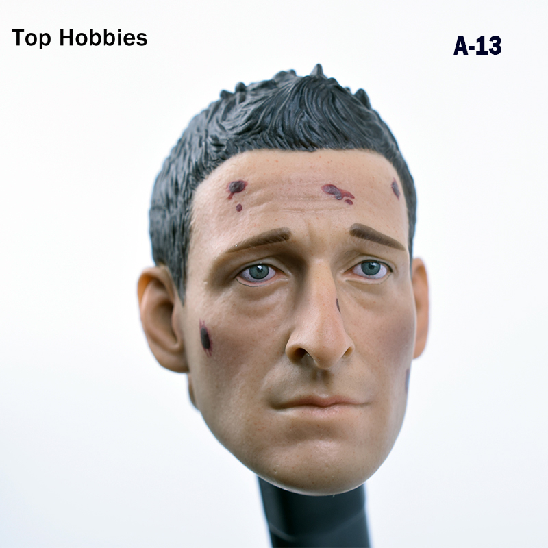 A-13 Hot Action Figure head 1/6 Scale Royce battle damage carving version testa sculpt predators headplay hottoys Toys 12Phicen dstoys d 005 1 6 scale female head sculpt beauty girl headplay long curly hair for 12 ht phicen action figure