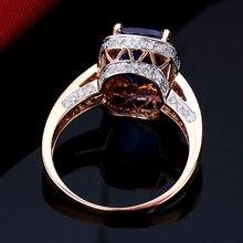 Romantic Cushion 7x9mm Solid 14kt Rose Gold Diamond Tanzanite Engagement Ring R122