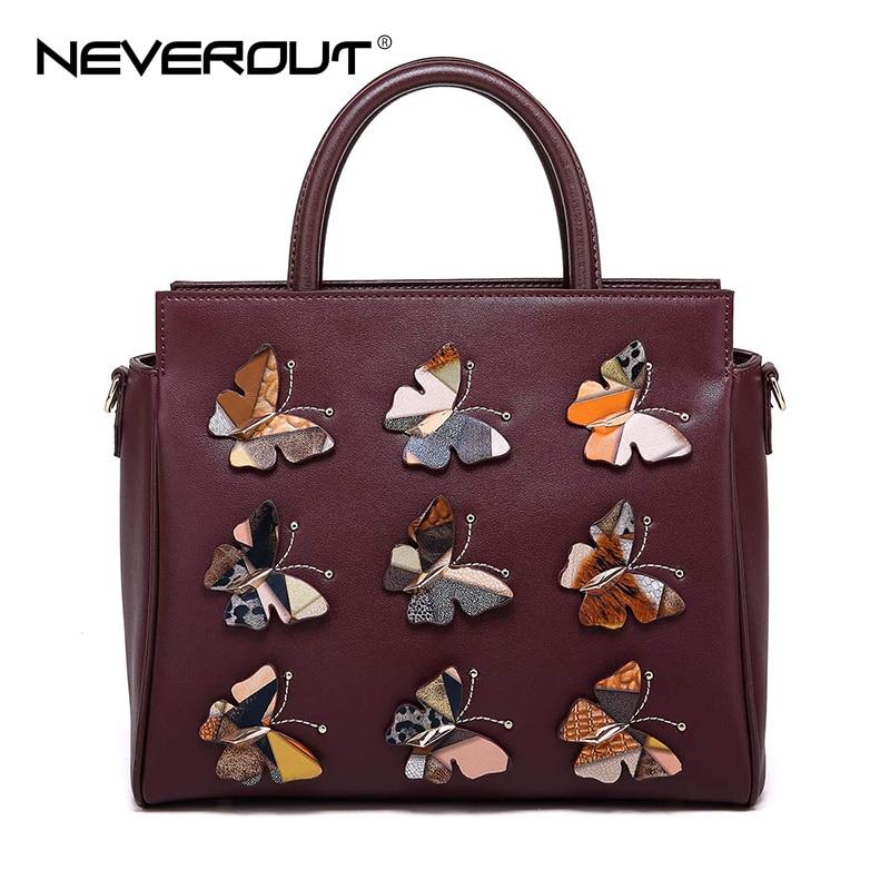 цена на NEVEROUT High Quality Leather Handbag for Women Casual Vintage Totes Elegant Luxury Shoulder Purse Tote Handbags Sac Zipper Bag