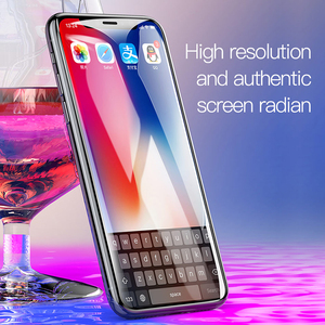 Image 2 - Baseus For iPhone X XS Screen Protector 0.2mm 9H Tempered Glass For iPhone X S Ultra Thin 6D Full Cover Front Protective Glass