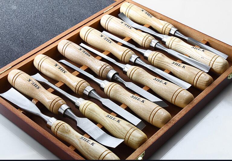 Fafaragási szerszámkészlet 12 db / Set Graver kés - Szerszámkészletek - Fénykép 2