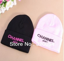 Free shipping,1pcs,2013 new fashion knitted cap, letters ZERO embroidered hat,winter warmmer hats for men and women,2 color