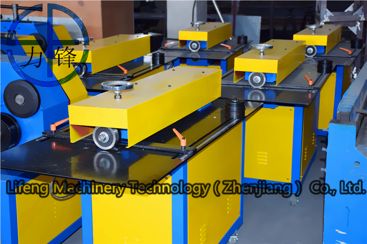 Lifeng LQ 12 electric sheet metal slitting machine , rotary sheet cutter with quick adjusting back gauge and scale