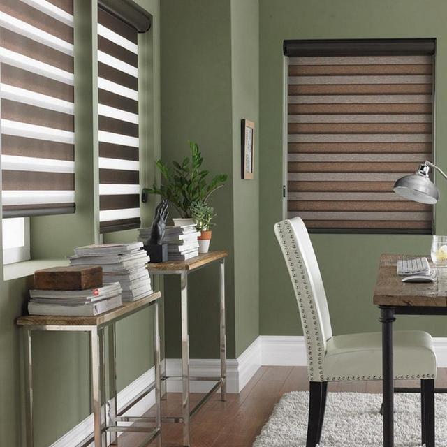 Love Weaving Home Zebra Blinds Soft Gauze Curtain Shutter Blackout Office  Kitchen Bathroom Double