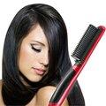 2016 Salon Professional pentear o cabelo ferramentas de estilo de Calor de Cerâmica alisador de cabelo alisamento de cabelo escova de cabelo pente quente elétrico