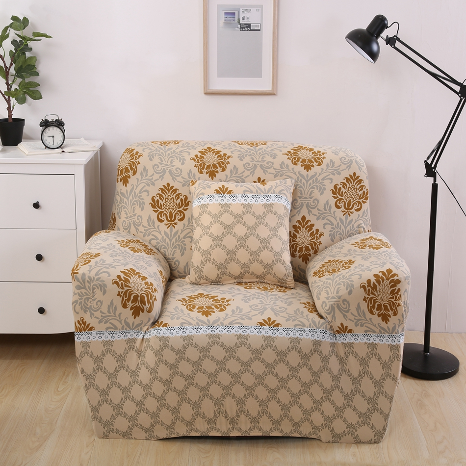 Modern L Shaped Couch Covers Geometric Design Sofa Covers For Living Room  Loveseat Slipcover For Single