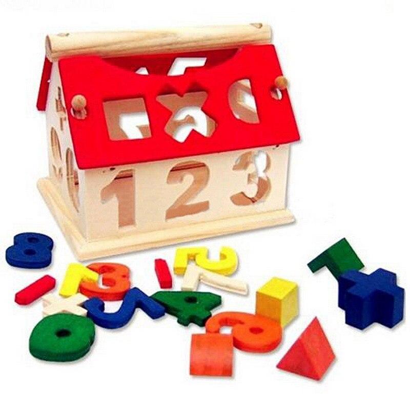 Kids Children Toys Digital Number House Building Blocks
