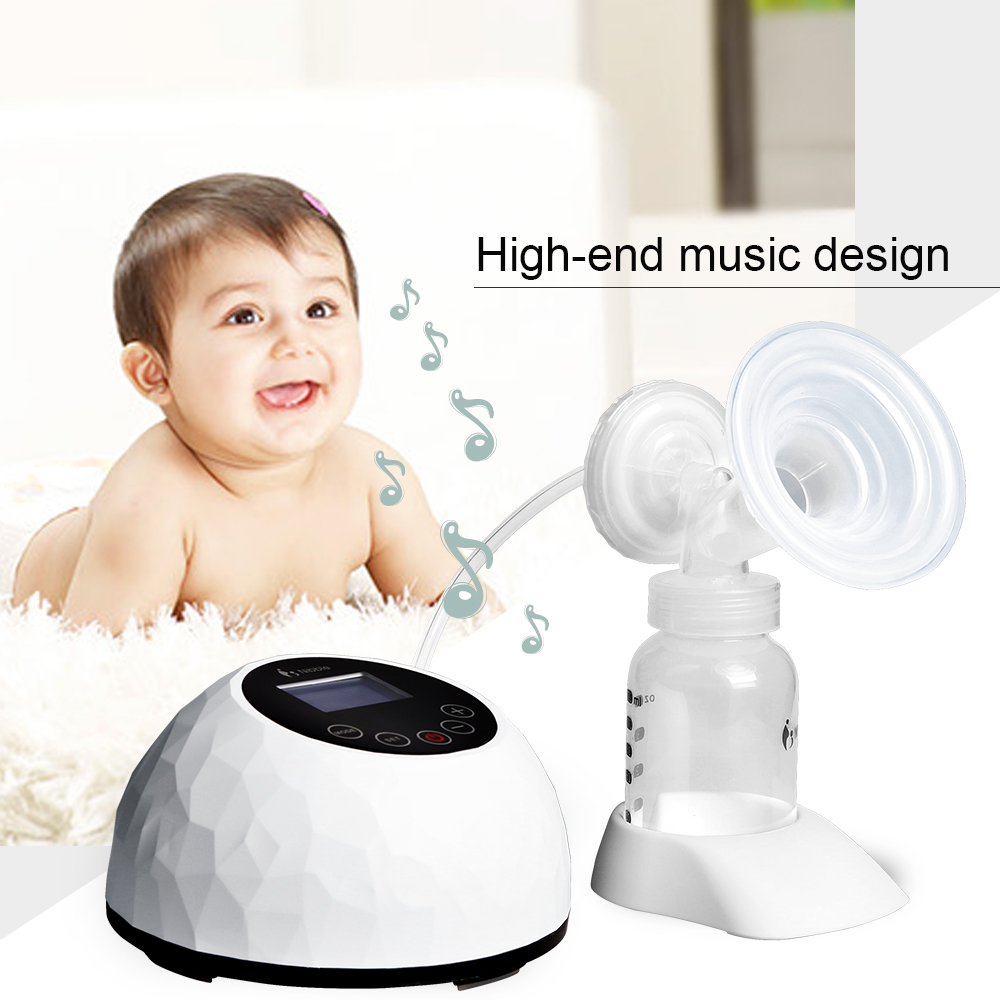 GL Automatic Electric Breast Pump Touch Panel Control Baby Breast Milk Feeding Milk Suction Pump Baby Feeding with Milk Bottle