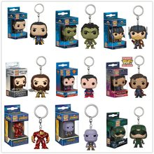 Funko pop Super hero Thor hulk Thanos Loki Superman Arrow Aquaman KeyChain Accessories figures model toy gifts Collection(China)