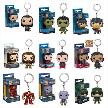 Funko pop Super hero Thor hulk Thanos Loki Superman Arrow  KeyChain Accessories figures model toy gifts Collection pedipaws pet nail trimmer
