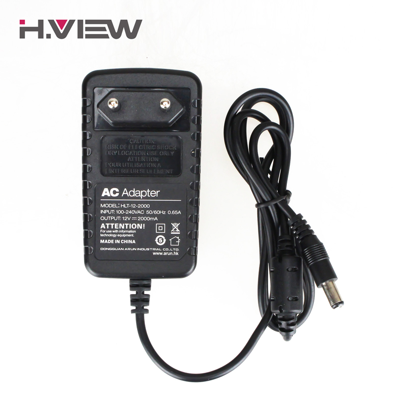 H.View 12V 2A Output Power Supply for Surveillance System CCTV Camera DVR 100-240V Input EU US UK AU Plug CCTV Accessories new dc 12v 2a ac 100 240v eu us uk au dc adapter charger power supply for led strip light cctv 2 5 5 5mm for dvr camera systems