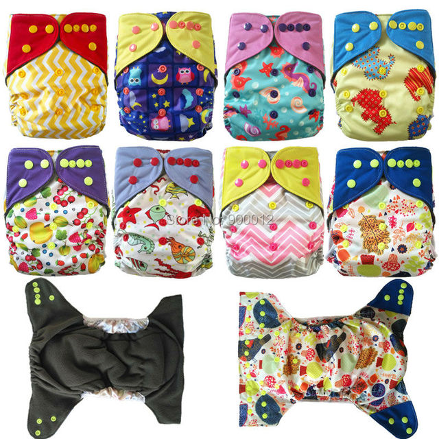 All In One Charcoal Bamboo Baby Cloth Diaper Nappy Washable Reusable