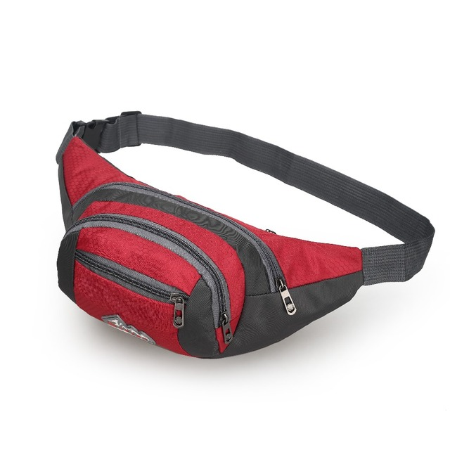 Casual Waist Bag Women Waterproof Nylon Girls Fanny Packs Hip Belt Bag Money Travel Mountaineering Mobile Phone Bag Waist Packs