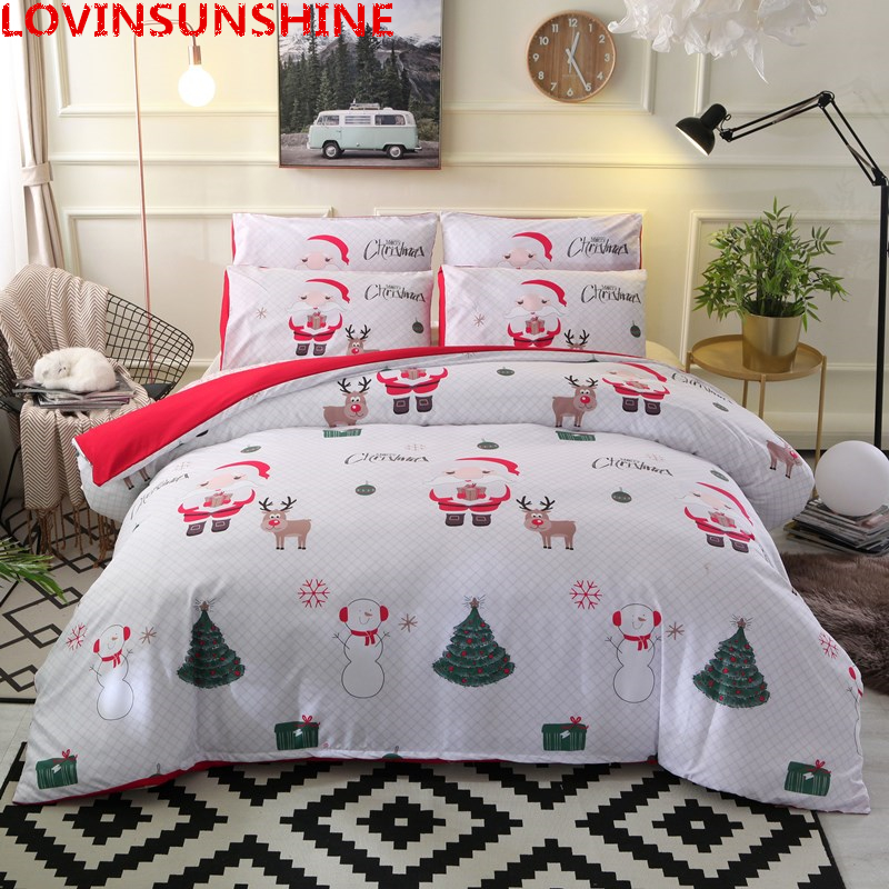 Christmas Bedding Sets Queen.Us 23 35 50 Off Lovinsunshine Santa Claus Bedding Set Christmas Bedding Duvet Cover Sets Queen King Size 3pcs Bedclothes Pillowcase Cover Sets In