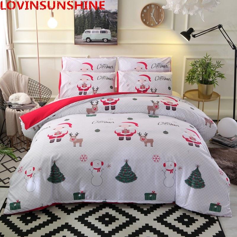 Christmas Sheets King.Us 23 35 50 Off Lovinsunshine Santa Claus Bedding Set Christmas Bedding Duvet Cover Sets Queen King Size 3pcs Bedclothes Pillowcase Cover Sets In