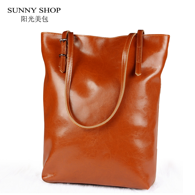 SUNNY SHOP Luxury Genuine font b Leather b font Women Messenger Bags Real font b Leather