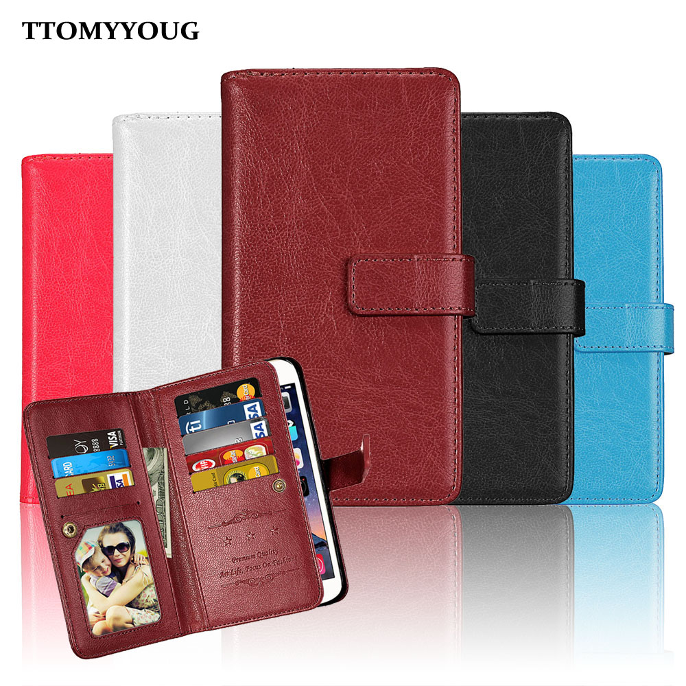 Business Wallet PU Leather Case Phone Soft Back Cover Case For Lenovo A2010 With Card Holder Stand Phone Shell Bags 9 Card Slots