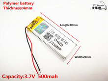 Lithium polymer battery 3.7V 402050 042050 Replacement 382250P Taipower MP3 X19 500mAh