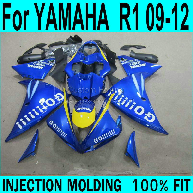 GO ! Fairings For YAMAHA  R1 2009 - 2012 ( Blue ) Injection Fairing kit +7gifts ll32 go go hz101 7