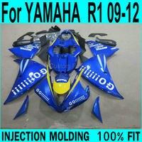 GO ! Fairings For YAMAHA R1 2009 2012 ( Blue ) Injection Fairing kit +7gifts ll32