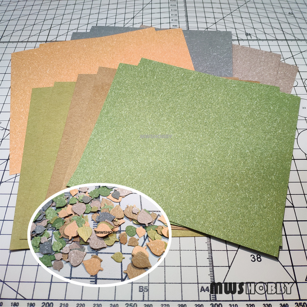 MWS HOBBY S1007 Special Colored Paper For Hobby (12Pcs/Set) Model Modeler Craft Tools Modeling Accessory