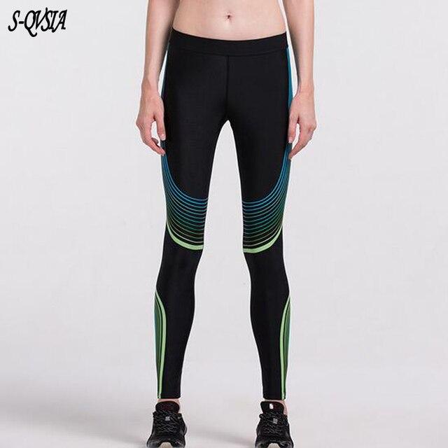 2017 Compress Sporting Leggings Women Fitness Workout Leggings Summer Sporter Thin Printing Fitness Women Sporting Leggings