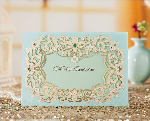 Personalized Printed Laser Cut Paper Invitation Wedding Cards 30pcs