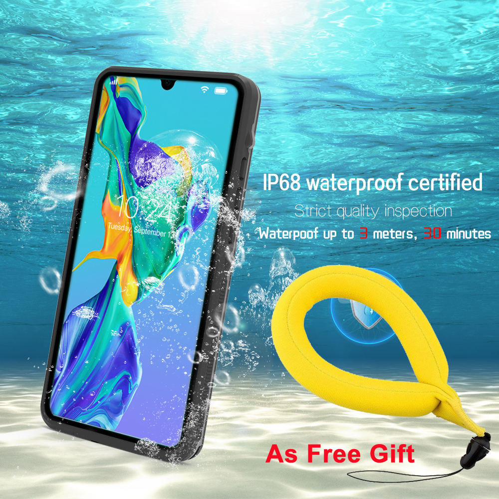 p30 p20 Shockproof Full Body Protective Waterproof Case For Huawei P20 Lite P30 Pro Slim Hybrid