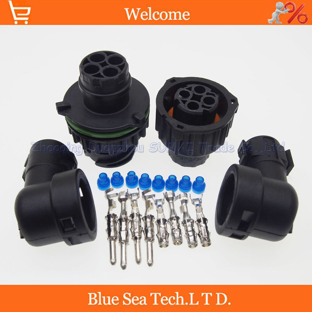 4 Pin AMP/TE 1-967402-1/1-967325-3 male&female auto Sensor plug connector with sheath for Car,oil exploration,railway etc